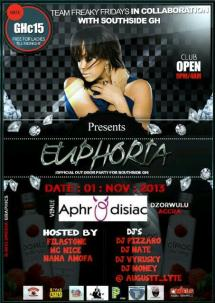Euphoria x Juliet Ibrahim's Halloween Party, held on the 1st of November 2013 at the Aphrodisiac Nightclub (now Privee Lounge)