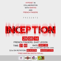 Inception. Organized by Hypenet Ghana on the 29th of August inside French Fingers, East legon